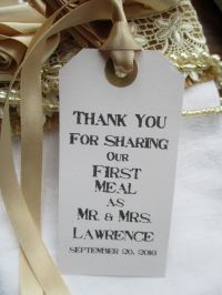 10 Rustic Wedding Table Place Setting White Tag Napkin Tie ...